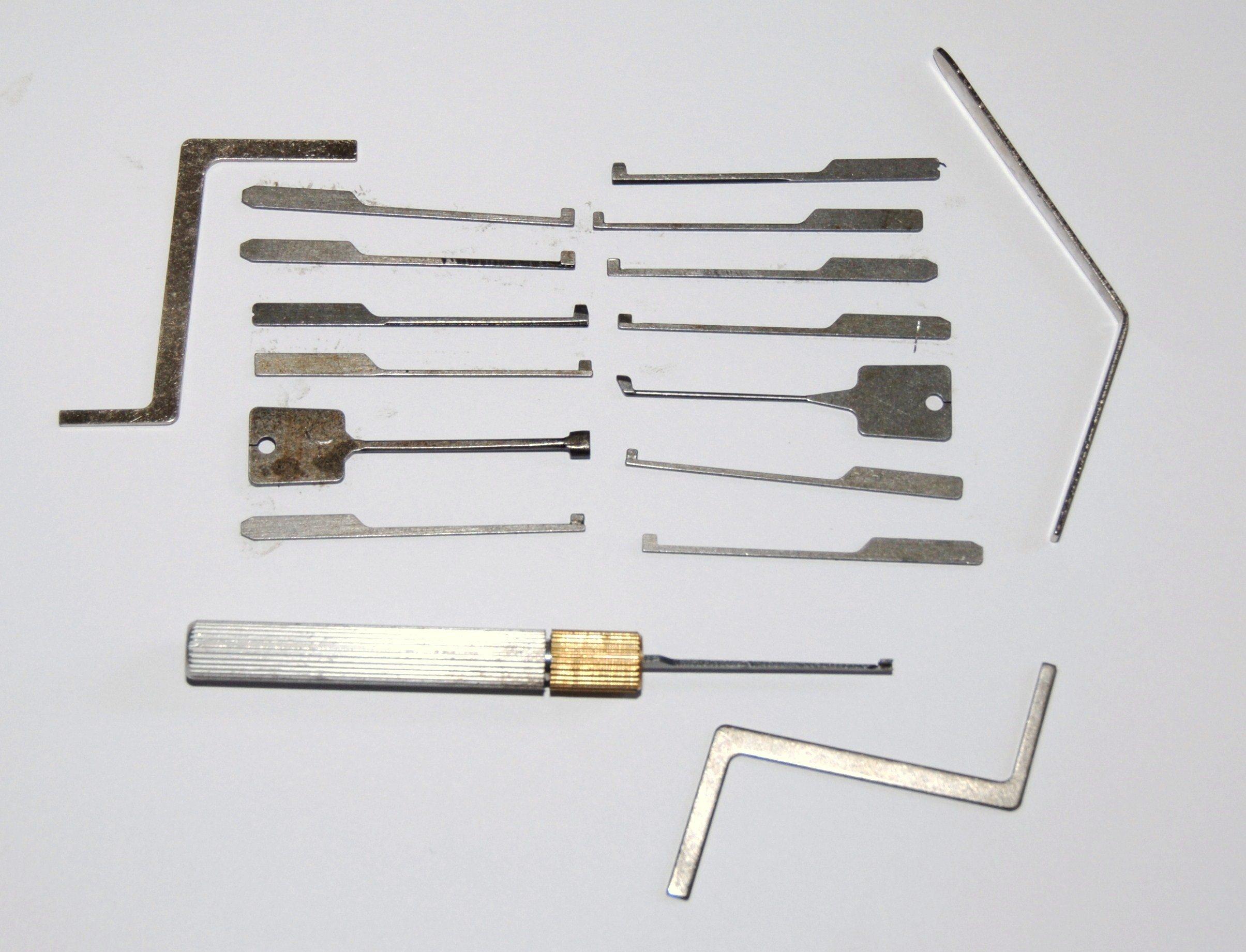 """Walker Locksmiths Goso - Juego de ganzúas (con estuche, guía en inglés titulada """"How to pick cylinder locks""""): Amazon.es: Electrónica"""