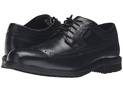 Rockport Essential Details II Waterproof Wingtip (Black Leather) Men