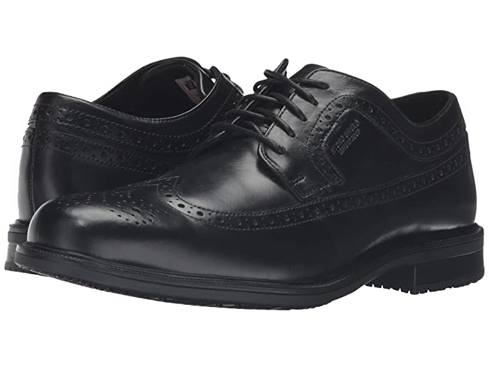 Rockport  Essential Details II Waterproof Wingtip (Black Leather) Mens Shoes