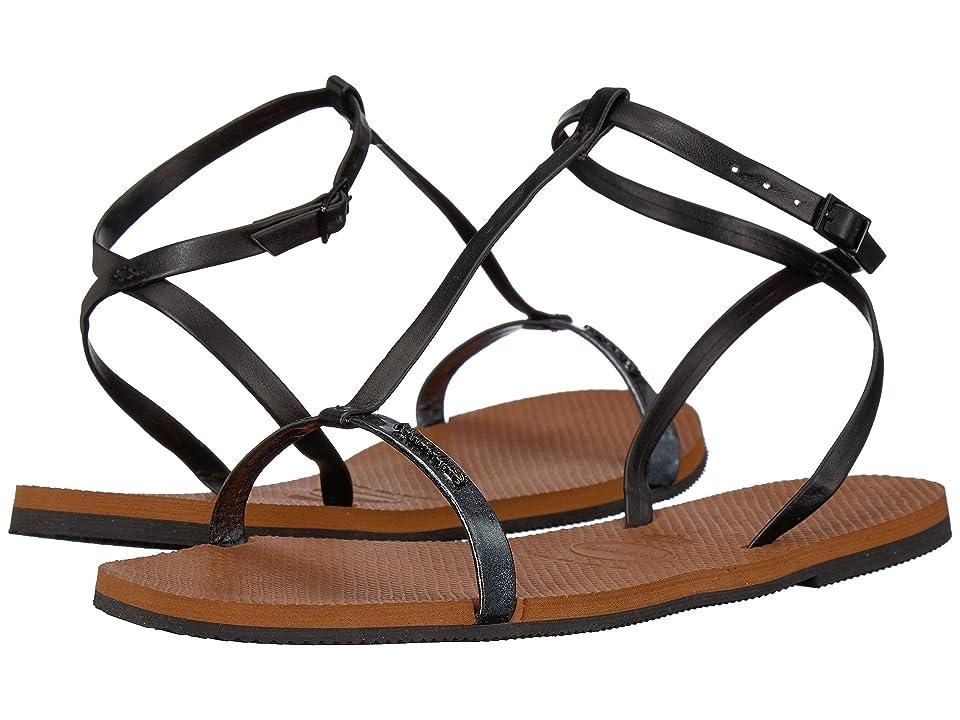 Havaianas You Belize Flip Flops (Black) Women