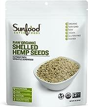 Sunfood Superfoods Raw Organic Shelled Hemp Seeds. Non-GMO, Vegan, Gluten Free- 1 lb Bag.