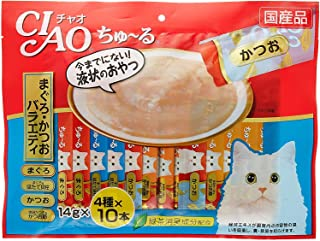 CIAO Churu Cat Food Wet Treats Natural Vitamin Lickable Seafood Variety 14g×40pcs
