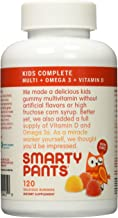 Smartypants Gummy Vitamins with Omega 3 Fish Oil and Vitamin D, 120 gummies (2 Count)