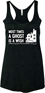 Haunting Most Times A Ghost is A Wish Women Tank Top - Black New