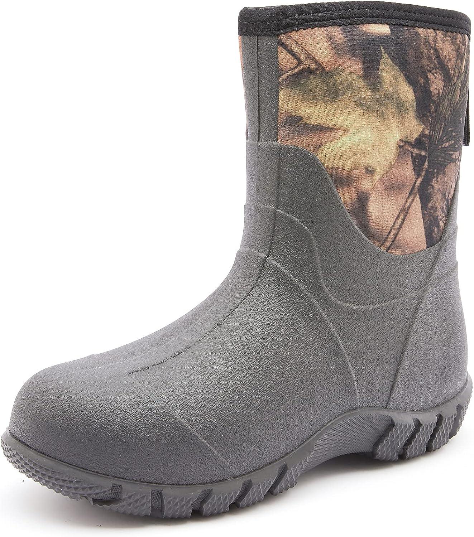 SWIFTFROG Special sale item Mid Calf Rain Topics on TV Boots - Men's and Water Shoe Garden