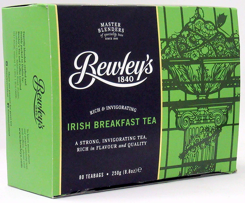BewleyS Irish Breakfast Tea Award-winning store 250 famous G 80 Bew Bags Pack 6 by of