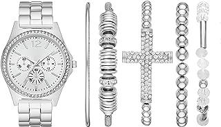 Folio Women's Three-Hand Silver-Tone Watch Gift Set FMDAL890