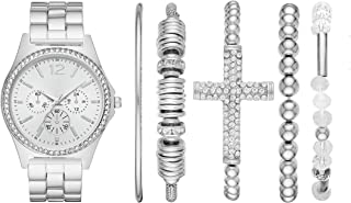 Folio Women's Three-Hand Silver-Tone Watch Gift Set FMDAL890