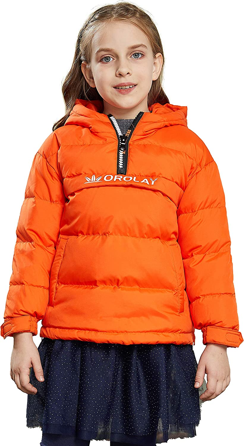 Orolay Girl's Packable Down Jacket Boy's Winter Coat Hooded Puffer Jackets