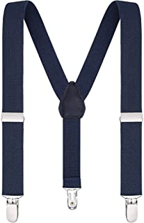 Buyless Fashion Suspenders for Kids and Baby Adjustable Elastic Solid Color 1 inch