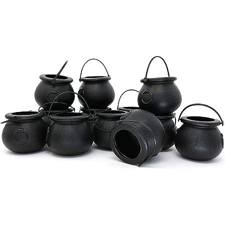 Halloween Candy Kettles Pot Halloween Cauldron Bucket With Handle Kids Toy.dr