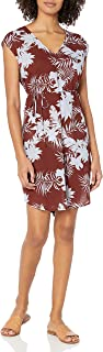 Seafolly Women's Printed Swimwear Cover Up Dress with Drawstring Waist