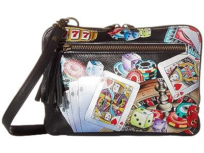 Anuschka Handbags Convertible Belt Bag/Crossbody Zip Around 663 (High Roller) Bags