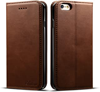 Iphone 6 Plus Case Wallet, Iphone 6s Plus Case Wallet, DINGXIN Premium PU Leather Flip Folio Book Case Cover with Card Holder Magnetic Stand for iPhone 6/6s Plus (Brown, iPhone6/6sPlus, 5.5inch)