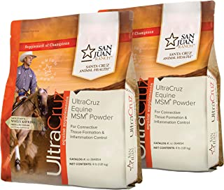 UltraCruz Equine Horse MSM Joint Supplement Bundle, 4 lb x 2, Powder (172 Day Supply)