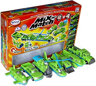 Popular Playthings Mix or Match Vehicles 2 & 4 Giant Combo Magnetic Toy Play Set,  Air, Land and Sea Vehicles