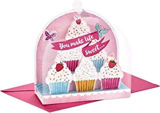 Hallmark Paper Wonder Displayable Pop Up Birthday Card for Her (Beautiful Butterflies and Flowers) You Make Life Sweet