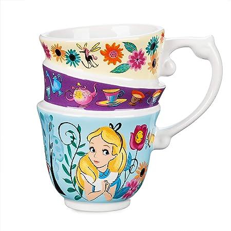 Amazon Com Disney Taza Diseño De Alicia En El País De Las Maravillas Kitchen Dining
