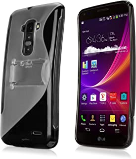LG G Flex Case, BoxWave [ColorSplash Case with Stand] Durable TPU Case w/Stand for LG G Flex - Jet Black