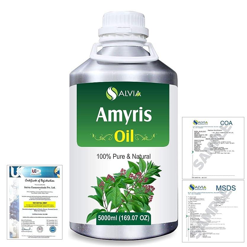 オン竜巻休日Amyris (Amyris balsamifera) 100% Natural Pure Essential Oil 5000ml/169fl.oz.