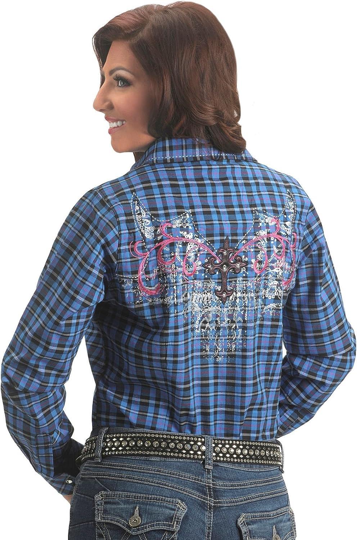 Wrangler Women's Rock 47 Woven Embroidery Top