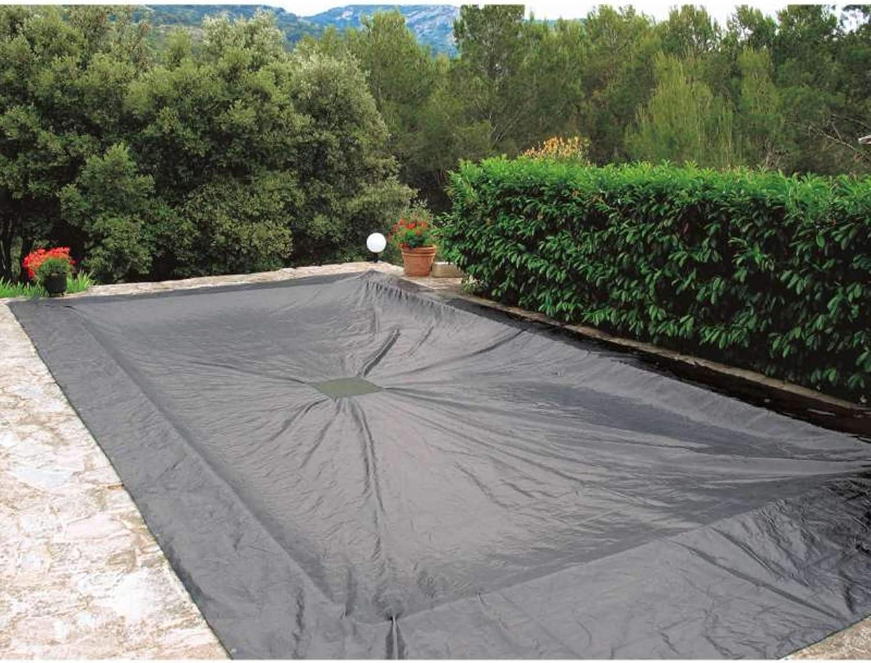 WerkaPro 10662 - Lona de protección para piscinas rectangulares, 6 x 10 m, color azul marino
