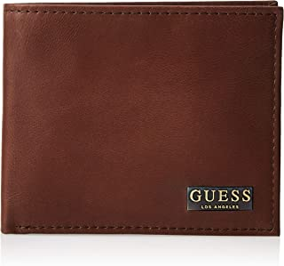 Guess Mens Global Passcase Wallet, Tan, One Size - 31GUE22090