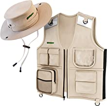 Outdoor Explorer Set - Cargo Vest & Hat for Young Kids Ages 4-6 - Durable Fabric, 5 Pockets, Safety Reflective Strips - Gift for Backyard Explorer - Park Ranger Safari - Paleontologist
