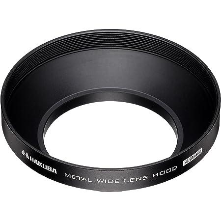 HAKUBA レンズフード ワイドメタルレンズフード 高強度6000系アルミニウム合金製 49mmフィルター径装着用 ブラック KWMH-49