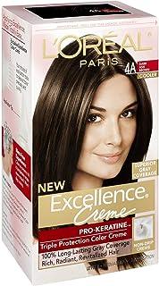 L'Oreal Paris Excellence Creme Haircolor, Dark Ash Brown [4A] (Cooler) 1 ea (Pack of 3)
