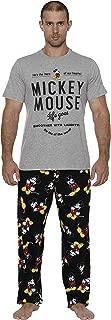 Disney Men's Classic Mickey Mouse Pajama Tee and Lounge Pant Set