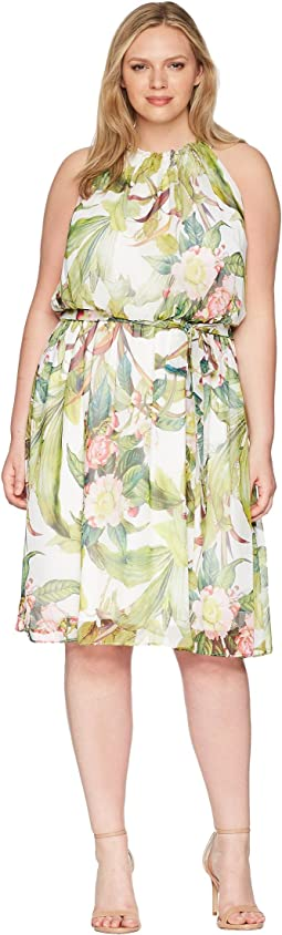 Plus Size Tahitian Tropics Fit and Flare