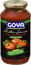 Goya Foods Pasta Sauce All Natural Chunky, Tomato & Basil, 25 Ounce (Pack of 12)