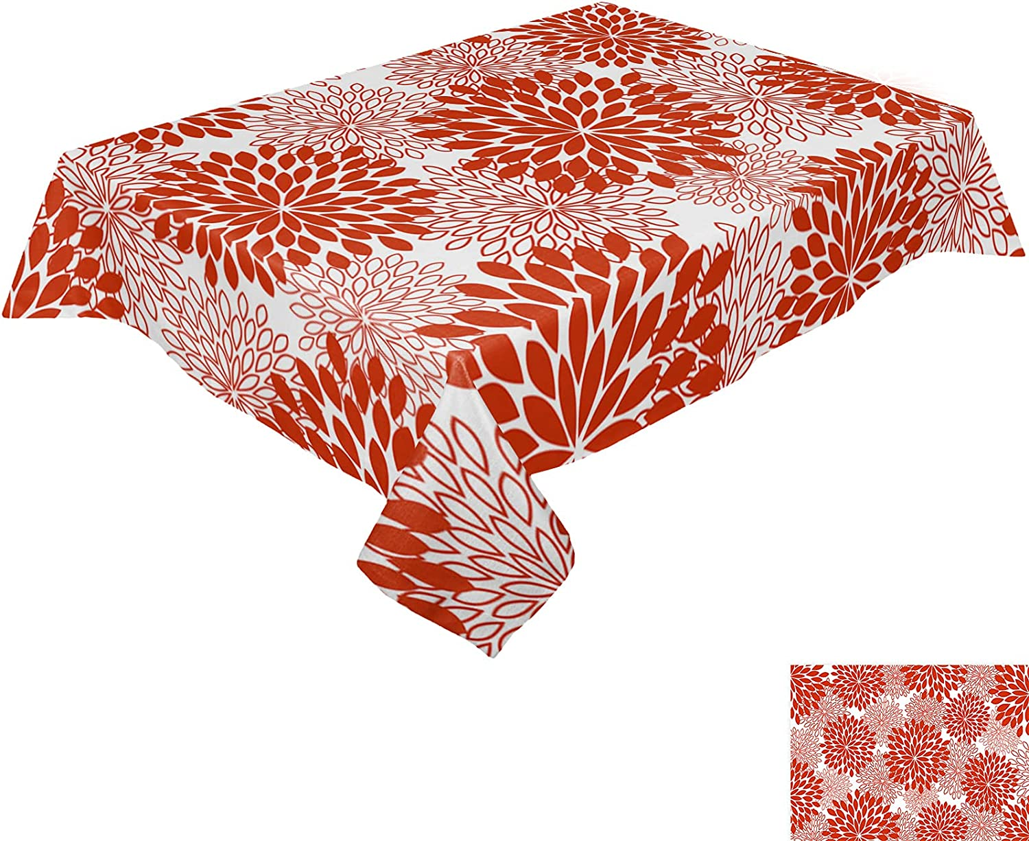 HELLOWINK Many popular brands Rectangle Table Mesa Mall Cloths 52x70inch Wild Floral Ta Party