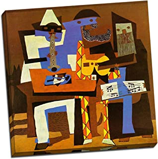 Panther Print Pablo Picasso Three Musicians Canvas Print Picture Wall Art Large 20X20 Inches