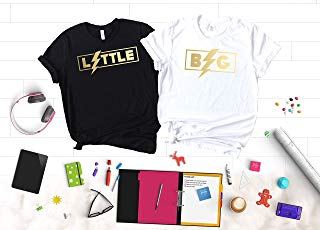 Rock and Roll Sorority Big Little Reveal Shirts, Big Little Sorority Shirts, Unique T-Shirts with Gold Foil, Rose Gold, Silver Foil Graphics for your Sorority Family