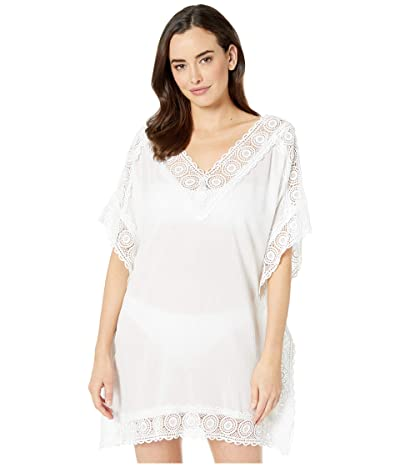 La Blanca Island Fare Short Sleeve Tunic Cover-Up (White) Women