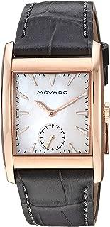 Movado Women's Heritage Stainless Steel Swiss-Quartz Watch with Leather-Crocodile Strap, Grey, 27.4 (Model: 3650051)