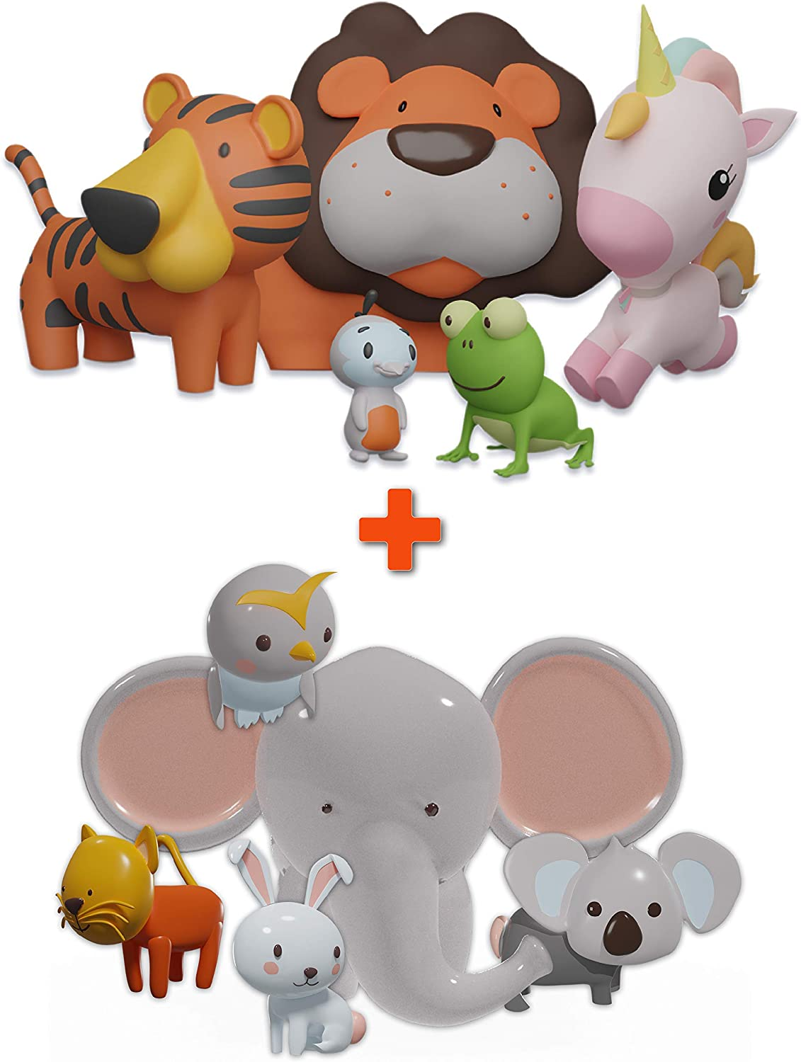 Easy-to-use SplashEZ MoldFree Bath Toys 10 Pack Memphis Mall 1M+ and Animal for Babies T