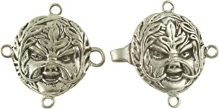 Celtic Greenman Cloak or Cape Clasp - Pewter