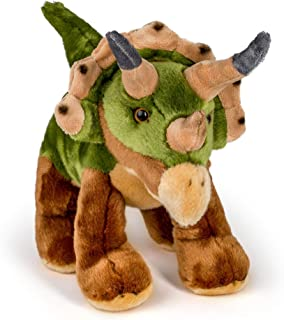 Wildlife Tree 12 Inch Stuffed Triceratops Plush Floppy Dinosaur Prehistoric Kingdom Collection