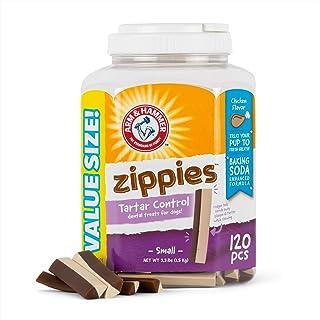 Arm & Hammer Zippies Tartar Control Dental Dog Treats in Chicken Flavor, 120 Pieces Value Bucket | Small Dog Dental Chews ...