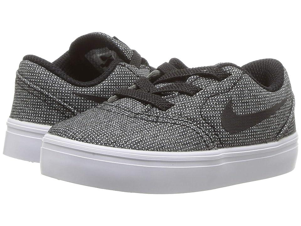 Nike SB Kids Check Canvas (Infant/Toddler) (Black/Black/White/Photo Blue) Boys Shoes