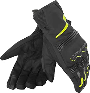Dainese Tempest D-Dry Short Motorcycle Gloves Black/Yellow Small
