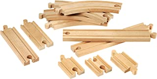 BRIO World - 33401 Beginner's Expansion Pack | 11 Piece Wooden Train Tracks for Kids Ages 3 and Up
