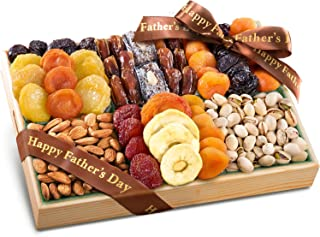 Fathers Day Pacific Coast Deluxe Dried Fruit Tray with Nuts Gift