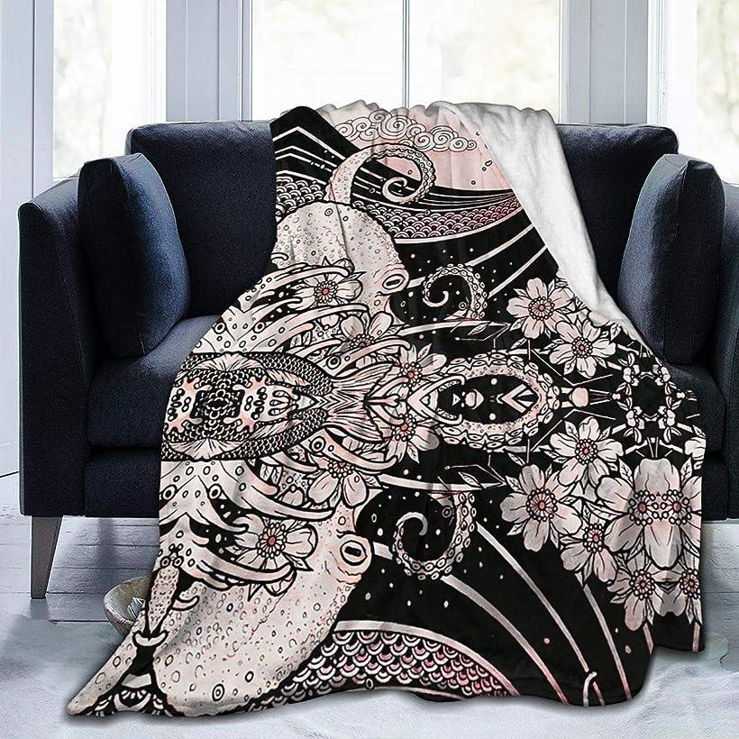 貼り直す不要死にかけているひざ掛け 毛布 ブランケット 日本スタイル 漫画 波 大判 ふわふわ 厚手 シングル 暖かい 柔らかい 膝掛け 携帯用 車用 オフィス用 防寒対策 冷房対策 お昼寝 通年用 洗える