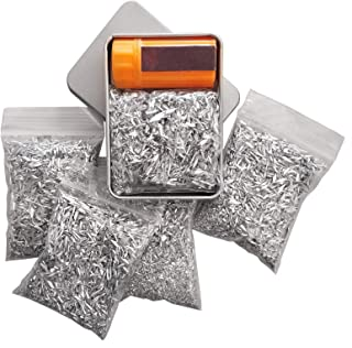 Kaeser Wilderness Supply Ultimate Fire Starting Survival Kit Magnesium Chips Windproof Matches in a Tin Burns Super Hot