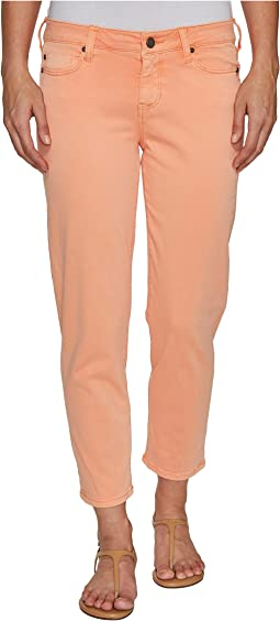 Riley Relaxed Crop in Stretch Peached Twill in Peach Pink