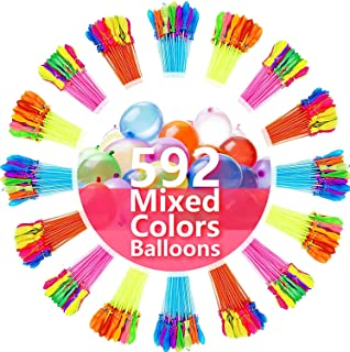 FEECHAGIER Water Balloons for Kids Girls Boys Balloons Set Party Games Quick Fill 592 Balloons 16 Bunches for Swimming Poo...